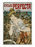 Poster Advertising 'Cycles Perfecta', 1902 Prints by Alphons Mucha