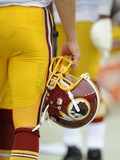 Washington Redskins - Aug 25, 2012: Washington Redskins Helmet Photographic Print by Nick Wass