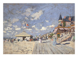 At the Beach of Trouville, 1870 Giclee Print by Claude Monet