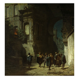 The Serenade, about 1865 Gicleetryck av Carl Spitzweg