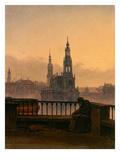 Blick Auf Dresden Mit Mondsichel Giclee Print by Carl Gustav Carus