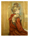 Girl in a Fur, Miss Jeanne Fountain, 1891 Prints by Henri de Toulouse-Lautrec