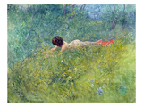 In the Grass (I Groengraset), 1902 Giclee Print by Carl Larsson