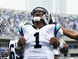 Carolina Panthers - Sept 16, 2012: Cam Newton Photographie par Rainier Ehrhardt