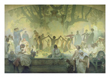 From Slav Epic: the Oath of Omladina under the Slavic Linden Tree, 1928 Giclee Print by Alphonse Mucha