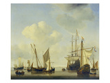 Warships at Amsterdam, ca. 1658 Giclee Print by Willem Van De Velde