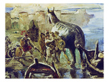 The Trojan Horse, 1924 Giclee Print by Lovis Corinth