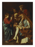 Jesus Christ, Aged Twelve, Among the Scribes Giclee Print by Matthias Stomer