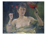Lady with a Fan Giclee Print by Lovis Corinth