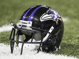 Baltimore Ravens - Sept 25, 2011: Baltimore Ravens Helmet Photographic Print by Jeff Roberson
