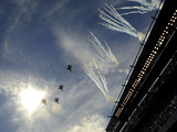 Philadelphia Eagles - Sept 16, 2012: Flyover and Fireworks at Lincoln Financial Field Photographic Print by Michael Perez