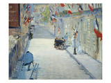 The Rue Mosnier in Paris Decorated with Flags, 1878 Giclee Print by Édouard Manet
