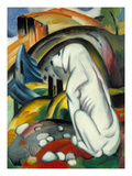 The White Dog (Hund Vor Der Welt), 1912 Gicléetryck av Franz Marc