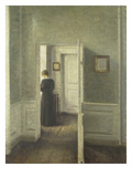 Frau in Einem Hellen Innenraum, 1913 Giclee Print by Vilhelm Hammershoi