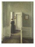 Frau in Einem Hellen Innenraum, 1913 Posters by Vilhelm Hammershoi