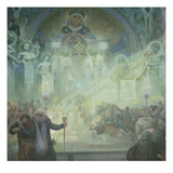 The Slav Epic: Holy Mount Athos, 1928 Poster by Alphonse Mucha
