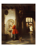 A Maid in a Hallway, 1849 Giclee Print by Hubertus van Hove