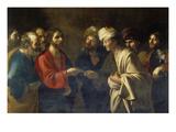 Der Zinsgroschen Giclée-tryk af Bartolomeo Manfredi