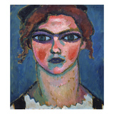 Youn Girl with Green Eyes, about 1910 Giclee-trykk av Alexej Von Jawlensky