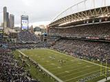 Seattle Seahawks - Sept 24, 2012: CenturyLink Field Print by Stephen Brashear