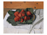 Still Life with Strawberries, 1921 Giclee Print by Felix Vallotton