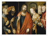 Christ and the Adulteress Giclee Print by Lucas Cranach the Elder