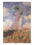 Woman with Parasol Turned to the Left (Suzanne Hoschedé), 1886 Giclee Print by Claude Monet