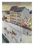 Unsere Strasse in Grau, 1911 Giclee Print by August Macke