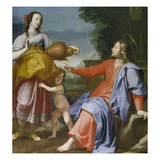 Christ and the Samaritan Woman at the Well, 1644 Giclee Print by Lorenzo Lippi