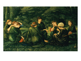 Green Summer, 1868 Reproduction proc&#233;d&#233; gicl&#233;e par Edward Burne-Jones