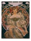 Plakatgestaltung (Urspruenglich Fuer F. Champenois, Jedoch Ohne Firmeneindruck), 1897 Gicléedruk van Alphonse Mucha