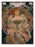 Plakatgestaltung (Urspruenglich Fuer F. Champenois, Jedoch Ohne Firmeneindruck), 1897 Giclee Print by Alphonse Mucha