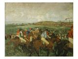 Before the Race (Course De Gentlemen), 1862 Giclee Print by Edgar Degas