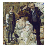 Self-Portrait with Family Gicléetryck av Lovis Corinth