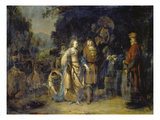 Isaac and Rebecca at the Fountain Cahai-Roi Lámina giclée por Gerbrand Van Den Eeckhout