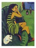 Ernst Ludwig Kirchner - Female Artist, 1910 Digitálně vytištěná reprodukce