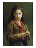 Young Girl Knitting, 1874 Giclee Print by William Adolphe Bouguereau