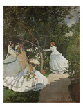 Women in the Garden, Ville D'Avray, 1867 Giclee Print by Claude Monet