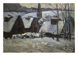 Breton Village in Winter, 1894 Gicleetryck av Paul Gauguin