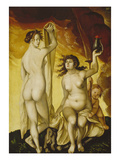 Two Witches, 1523 Posters by Hans Baldung Grien