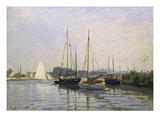 Sailing Boats, Argenteuil, about 1872/73 Giclee Print by Claude Monet