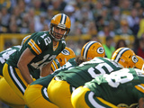 Green Bay Packers - Sept 30, 2012: Aaron Rodgers Photo av Matt Ludtke