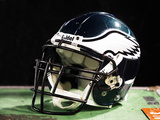 Philadelphia Eagles - Sept 3, 2009: Philadelphia Eagles Helmet Photographic Print by Peter Morgan