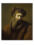 Head of a Bearded Man in Oriental Costume, about 1660-1670 Giclee Print by Arie de Vois