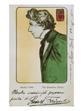 Der Boehmische Pianist Rudolf Friml. Postkarte Mit Widmung Fuer Eine Konzert- Prints by Alphonse Mucha