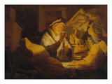 The Parable of the Rich Man (The Money Changer), 1627 Prints by  Rembrandt van Rijn