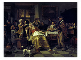 The Bean Festival, 1668 Giclee Print by Jan Stehen