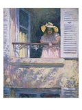 Young Girl with Sun Hat at the Window Prints by Henri Lebasque