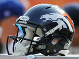 Denver Broncos - Sept 23, 2012: Denver Broncos Helmet Photographic Print by Jack Dempsey