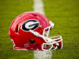 University of Georgia: Georgia Bulldogs Football Helmet Photographic Print
